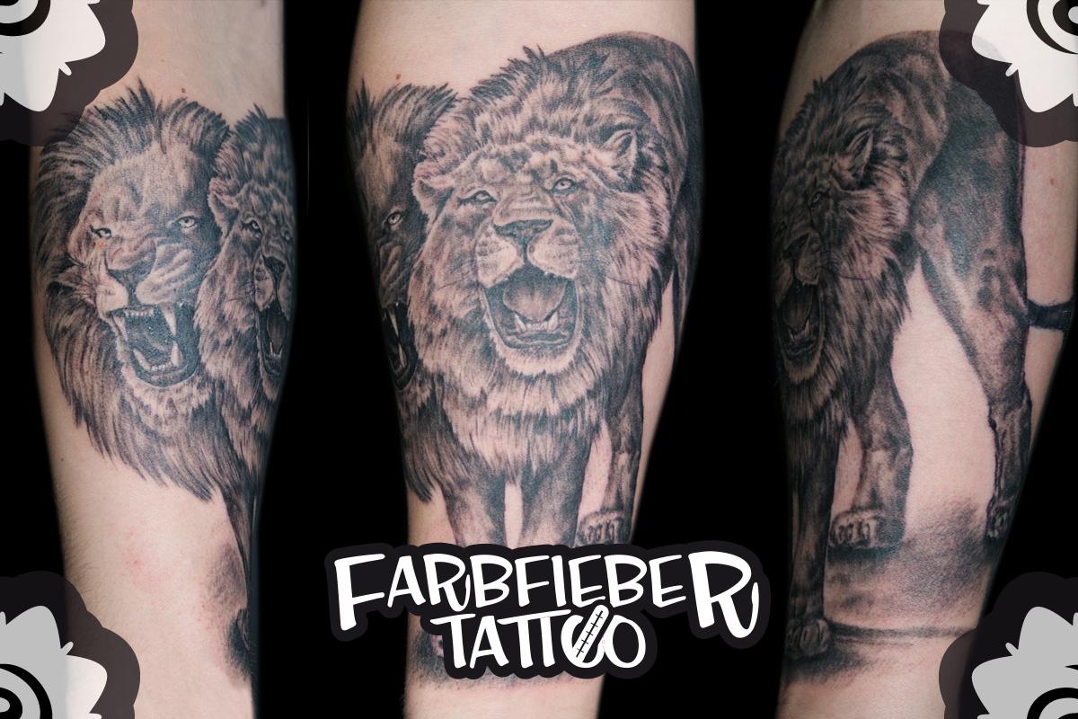 roland-farbfieber-tattoo-loewe